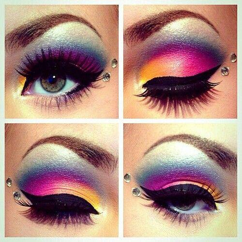 Sombra de ojos , make up , estilo femenino