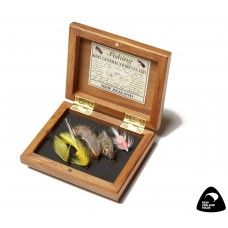 Fishing Flies Gift Box Wet. This presentation box hand crafted from New Zealand native Rimu contains five hand tied wet fishing flies. ​Each gift box is truly individual making this an extra special gift for any fly fisherman or a great souvenir after a holiday fishing New Zealand's renowned pristine lakes and waterways. A lovely corporate gift idea made from quality sustainable materials.  See more at www.entirelynz.co.nz/gifts