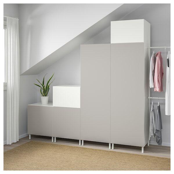 Platsa Armoire Penderie Blanc Fonnes Skatval Gris Clair 275 300x57x231 Cm Armoire Penderie Ikea Chambre Enfant Penderie