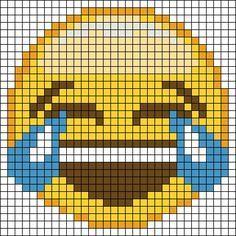 Emoji perler bead pattern Más
