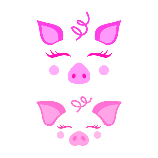 Cute Pig Face Cuttable Design Pig Crafts Pig Face Drawing Pig Face Paint