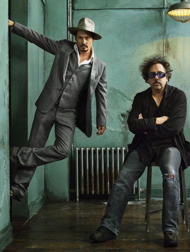 Johnny Depp and Tim Burton. LOVE this duo.