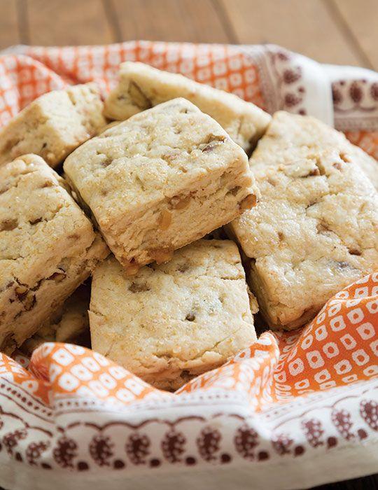 Gluten-Free Toffee-Pecan Scones