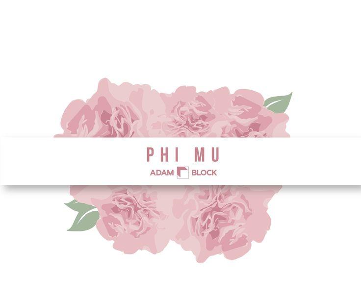 Looking for custom Phi Mu shirts with endless design options? Adam Block makes it easy! • www.adamblockdesign.com