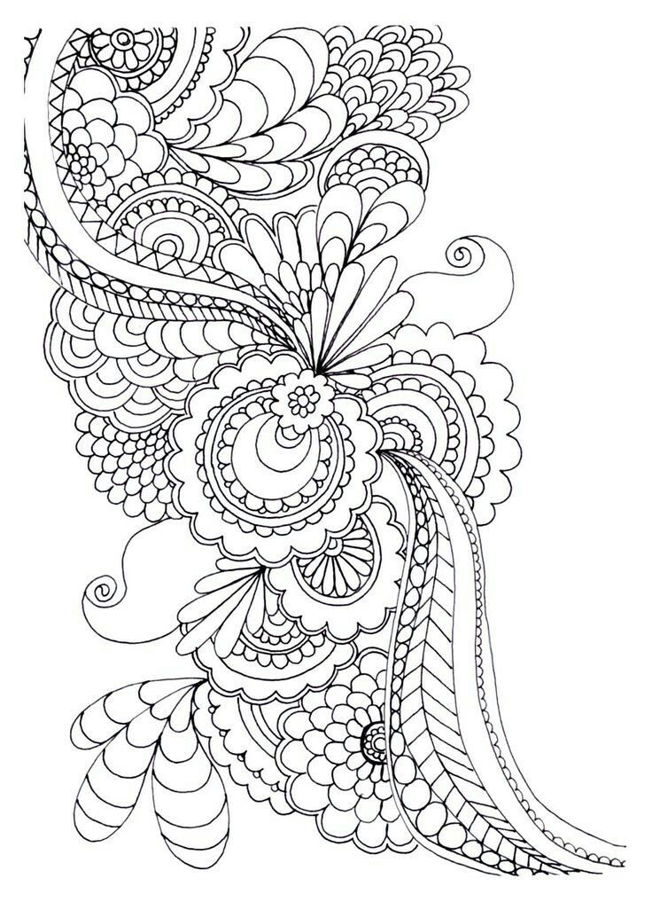 Zen Anti Stress To Print Drawing Flowers Coloring Pages Printable And Book For Free Find More Online Kids Adults