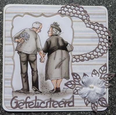 Brenda's kaarten: 40 jaar getrouwd