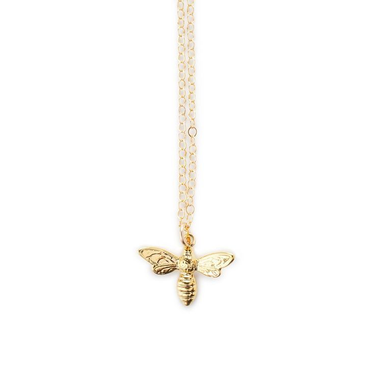 18k Gold Bee Necklace | Minimal Jewellery