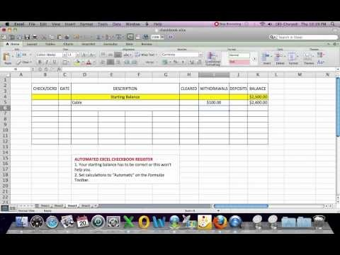 how to set up an equation in a spreadsheet