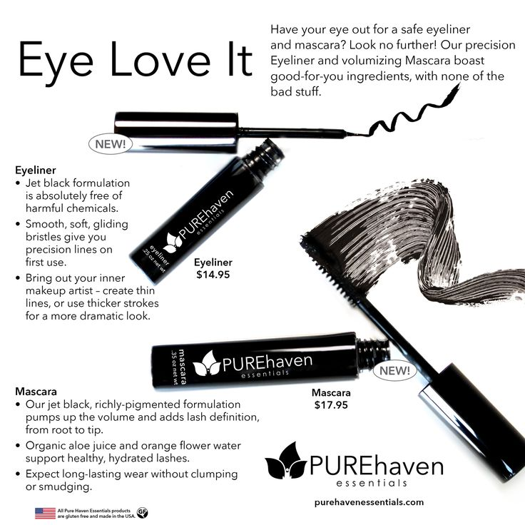 """ALL EYES ON THIS! ... non-toxic eyeliner and mascara!!! ... order now and take advantage of Annie B's """"FLASH SALE"""" going on for savings!! ... there are still FREE SHIPPING opportunities, and then 10% off orders until the sale is GONE! ... message PURE haven essentials by Annie B on Facebook or email: PHEbyANNIEB@gmail.com, and she will apply the savings and add your order today!"""
