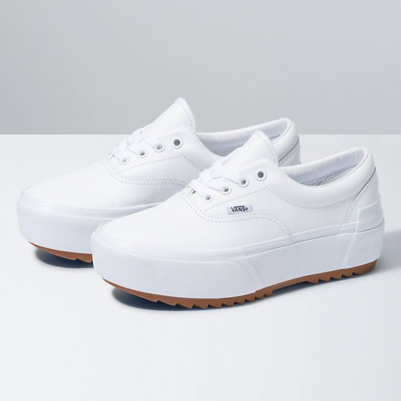 Leather Era Stacked | Shop Shoes At Vans | Leather shoes woman ...
