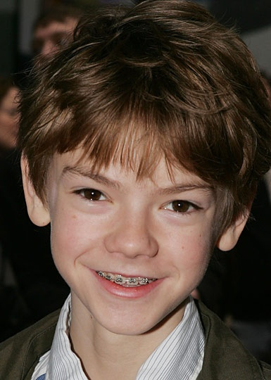 Braces just make Nanny McPhee and Love Actually poppet Thomas Sangster even cuter.