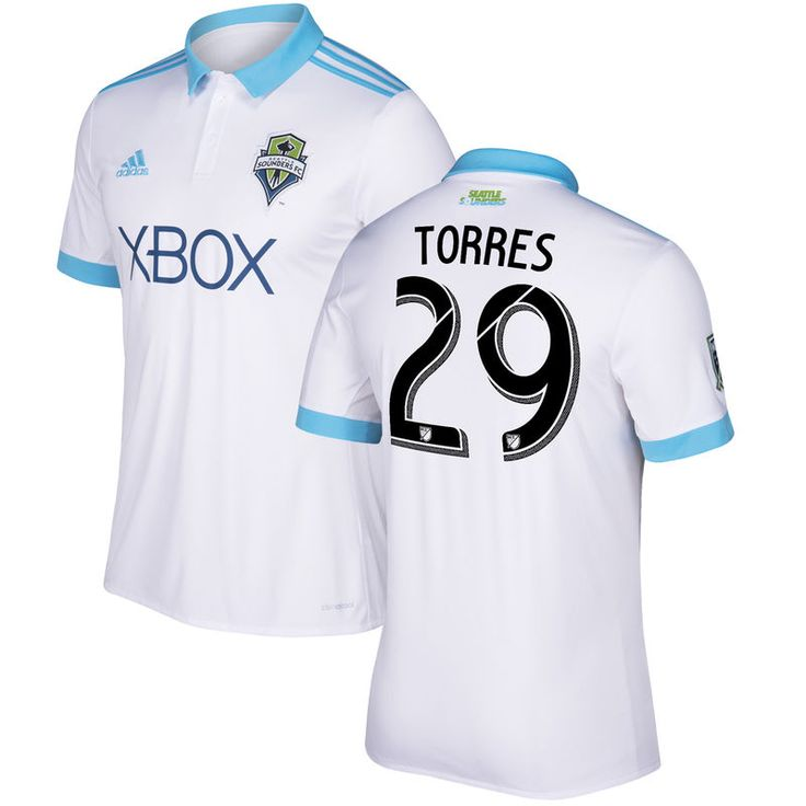Roman Torres Seattle Sounders FC adidas 2017 Secondary Replica Jersey - White