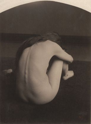 """Nude Clarence H. White (American, 1871–1925) c. 1900. Platinum print, 7 7/8 x 5 7/8"""" (20.0 x 14.8 cm). Gift of Mr. and Mrs. Clarence H. White, Jr."""