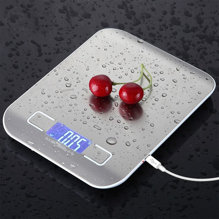 Stainless Steel Digital Usb Kitchen Scales 10kg 5kg Electronic