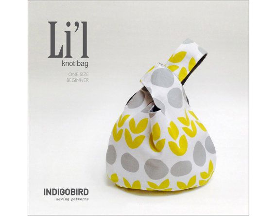 PATTERN, Knitting Project Bag pattern, Knot Bag, Bag Pattern PDF, Japanese knot bag, Grab bag, Reversible bag, DIY gift, l'il knot bagMenoecha van Doeselaar