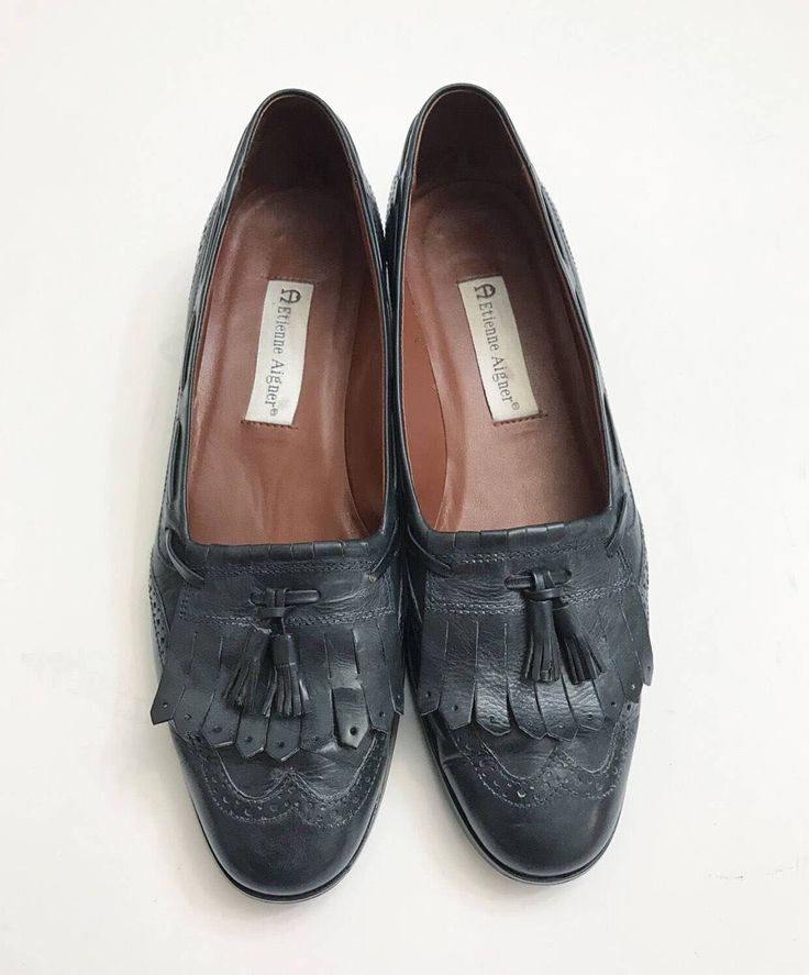 A personal favorite from my Etsy shop https://www.etsy.com/listing/513113886/vintage-etienne-aigner-navy-loafers