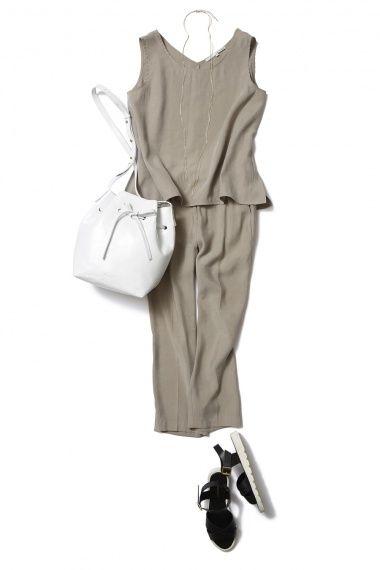 サテンクロップドパンツで夏のキレイ目コーディネート術 ― A-ファッションコーディネート通販|ビストロ フラワーズ トウキョウ
