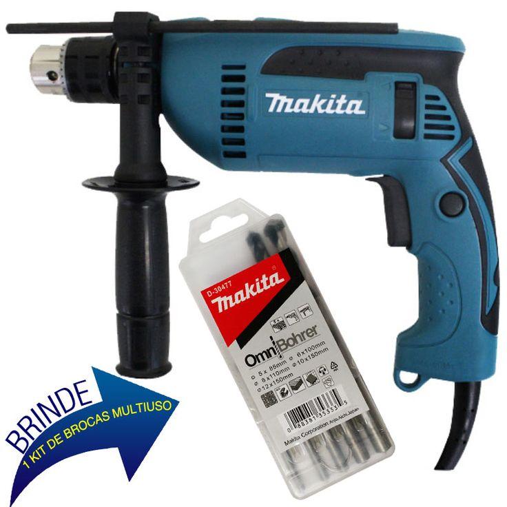 Furadeira Industrial 1/2 POL 680W HP 1640 + BRINDE 1 Kit de Brocas D-30477 MAKITA