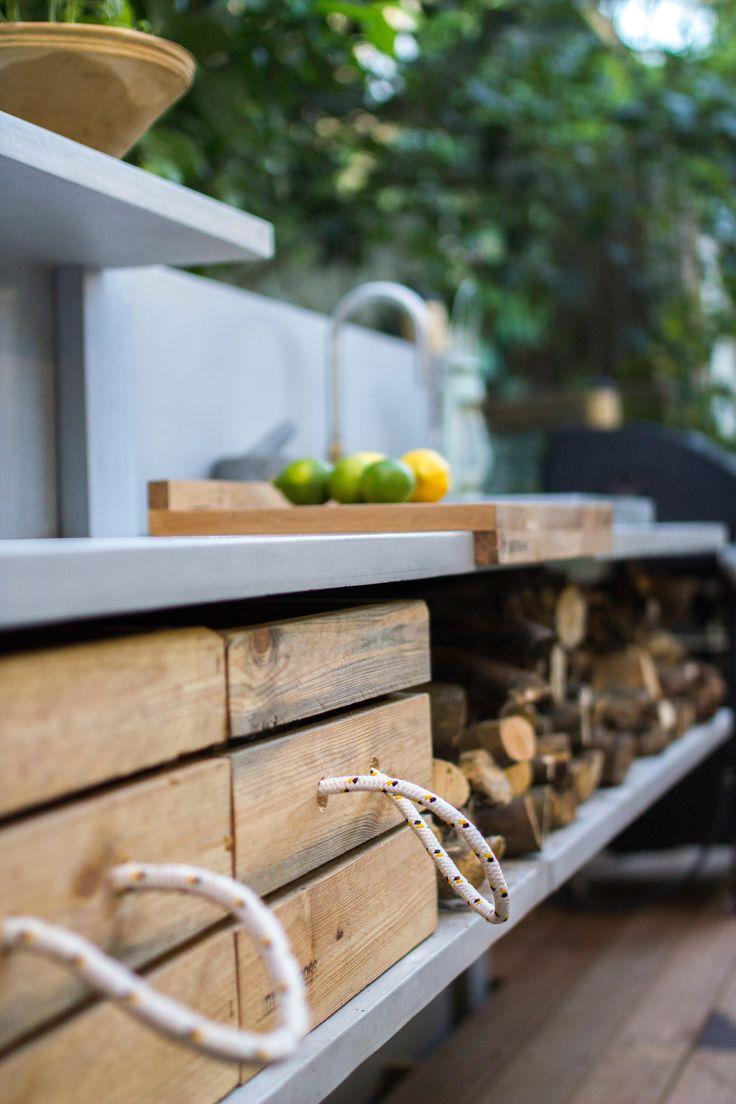 Wwoo Outdoor Kuche Mulleimer Kleine Kuche Single Modern Outdoor - Outdoor-modular-kitchens-by-jcorradi