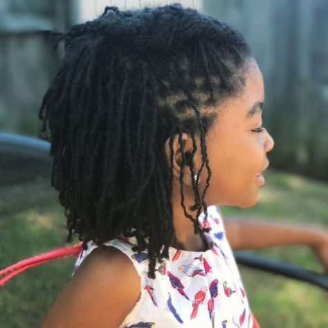 """7 months locked and beautiful! I am still in awe of the beauty of sisterlocks. Kids with locs Little girls with sisterlocks Children with sisterlocks 61 Likes, 3 Comments - Lovely Little Locs (@lovely_little_locs) on Instagram:"