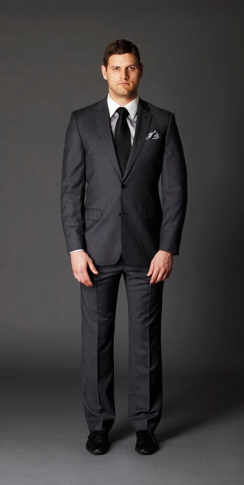 Slim fit charcoal suit. Groom, groomsmen, special occasion or corporate suit.