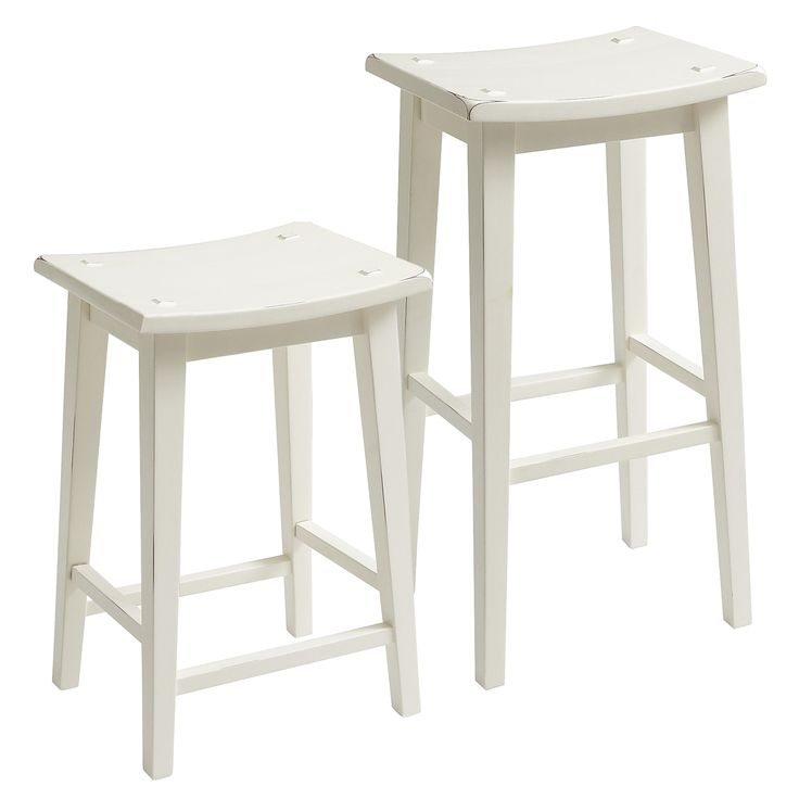 Lovely White Backless Counter Stool