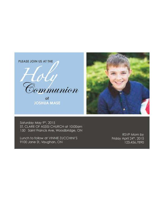 Communion Invitation by GraphxDesignz on Etsy