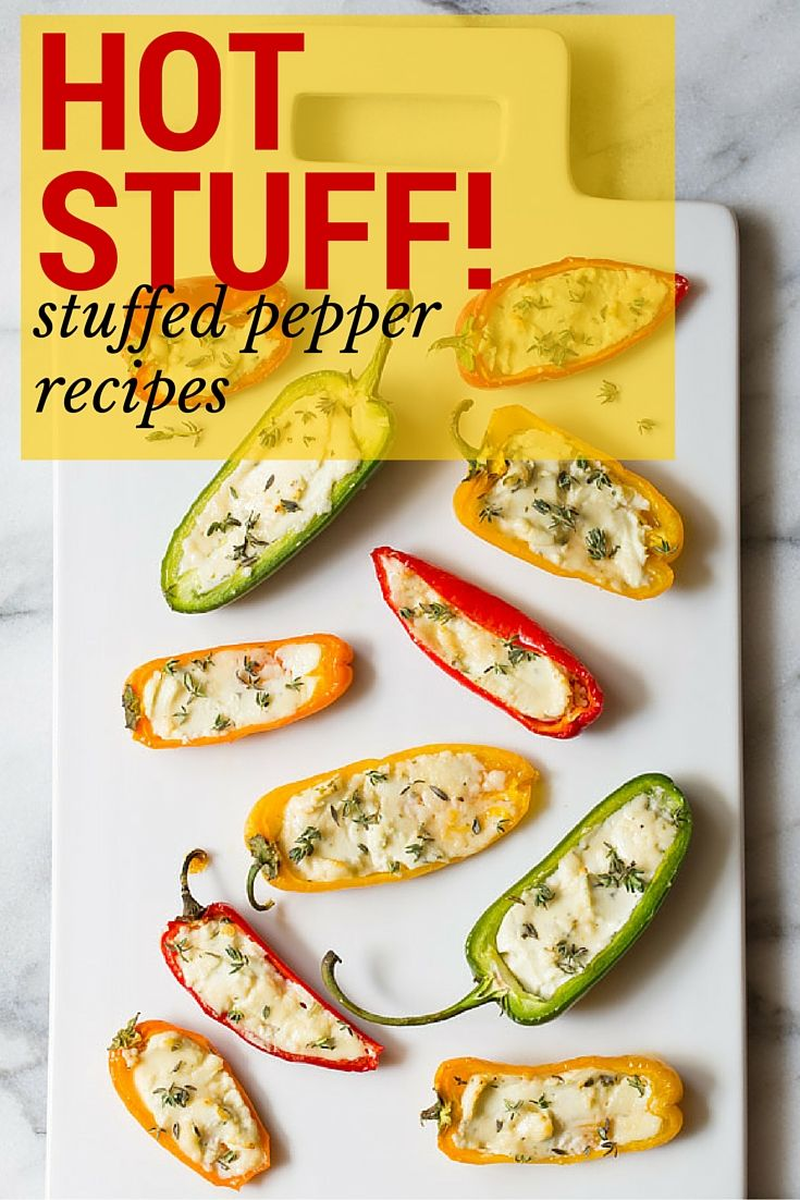 10 New Ways to Love Stuffed Peppers // Hearty, comforting stuffed pepper recipes, every which way—starting with these goat cheese-stuffed mini peppers from A Spicy Perspective.