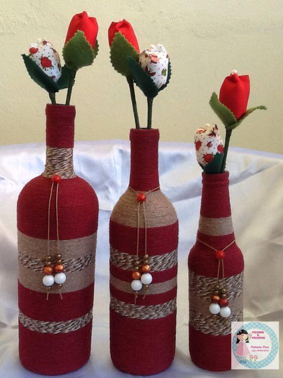 Relooker une bouteille en verre avec de la ficelle. Voici pour vous aujourd'hui une petite sélection de 20 idées pour décorer une simple bouteille avec de..