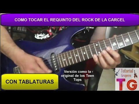 Como tocar el rock de la carcel en guitarra - YouTube