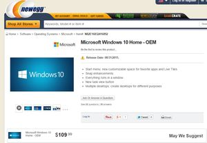 Newegg just leaked the Windows 10 price and release date | PCWorld