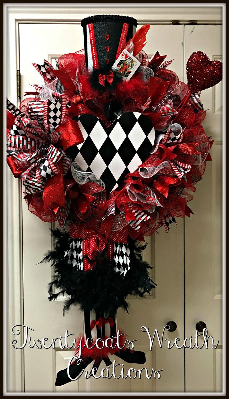Queen of Hearts Valentineu0027s Wreath by Twentycoats