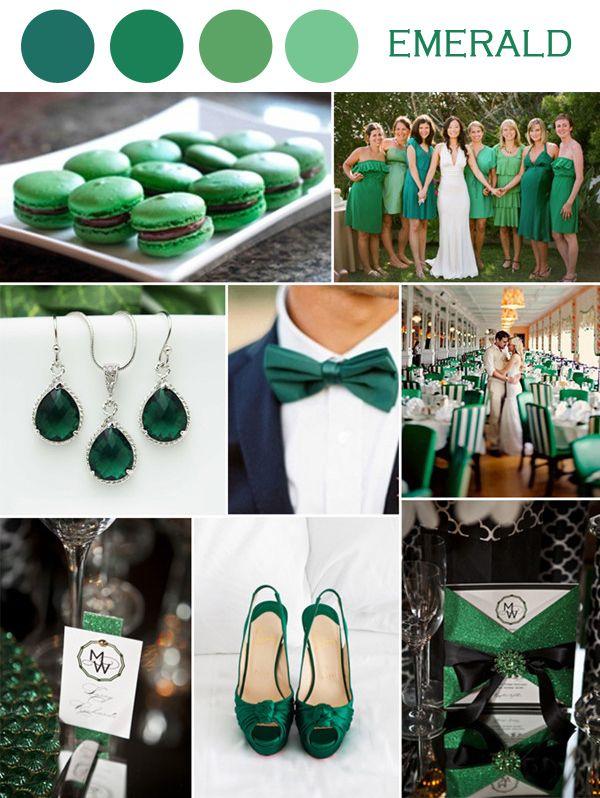 2014 wedding color combinations | Wedding Color Ideas-Emerald Green Weddings and Invitations 2014 ...