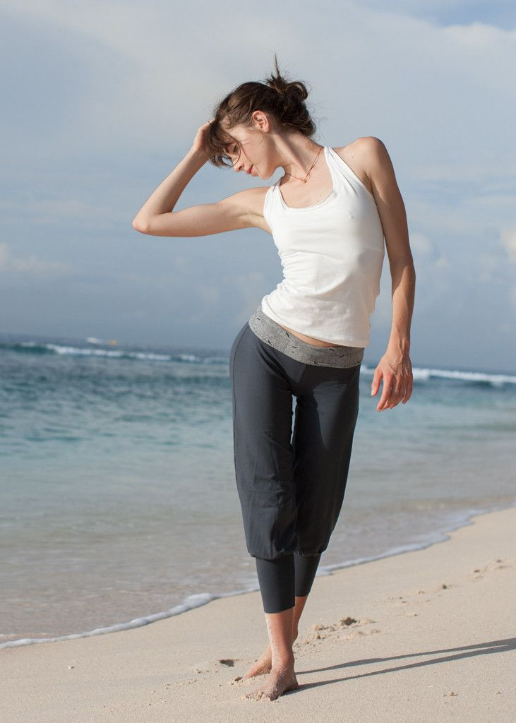 Hasu Organic Cotton Yoga Womens Pants - designed by WE-AR Ethical Fashion and Yoga clothing.  Made in Bali with love. Shop online: we-ar.com
