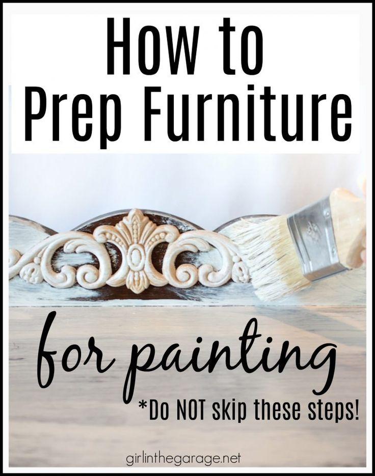 So bereiten Sie Möbel zum Malen vor: Ausführliche Anleitung