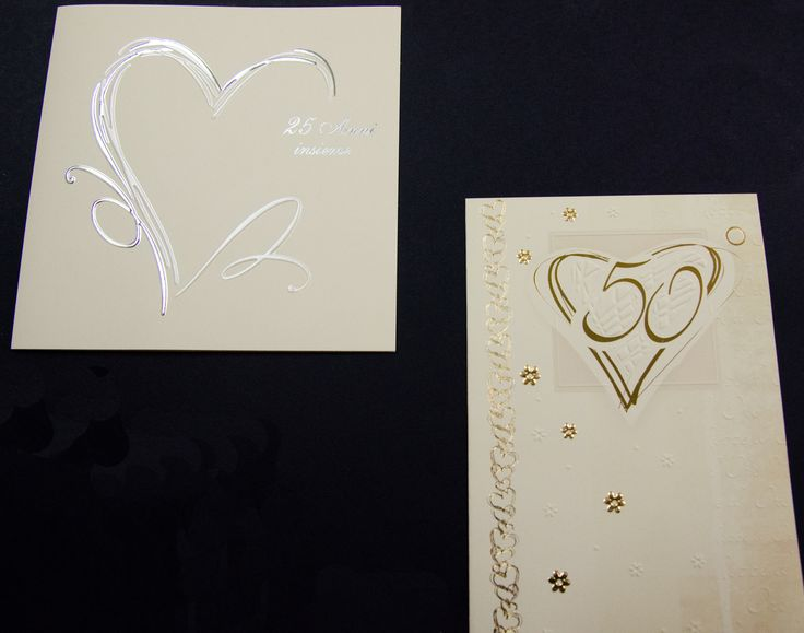 Stampa di partecipazioni per anniversari di 25° e 50° anno in tipografia a Firenze.