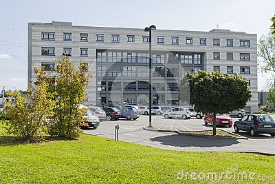 Buildings in Central European Organization for Nuclear Research  , workplace researchers.  Geneva Switzerland