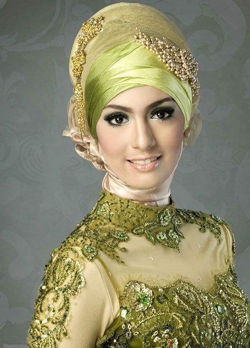 wedding hijab olive