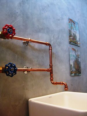 Snazzy way of using gate valves and copper pipe...