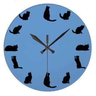 Black Cat Clock