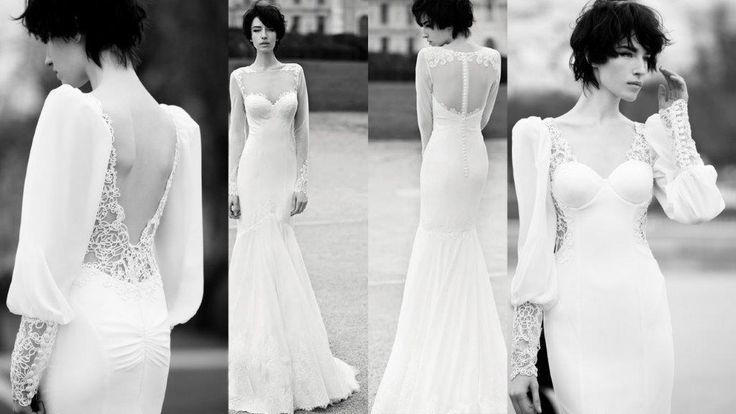 Tendenze wedding 2014. La sensualità di un abito da sposa a sirena per un matrimonio in spiaggia