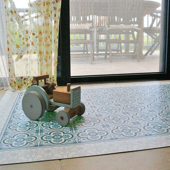 Vinyl Floor Mat Area Rug Linoleum Rug Printed Pvc Carpet With