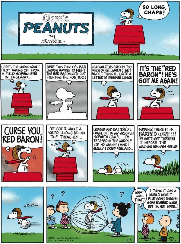 Peanuts Comic strip.