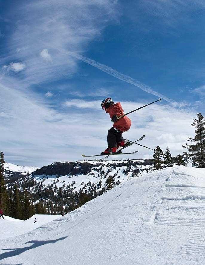 Skiing In California