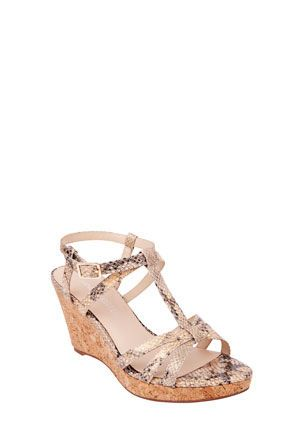 Myer - Jane Debster Florida Glam Viper Wedge Sandale. $119. Product code 239530960