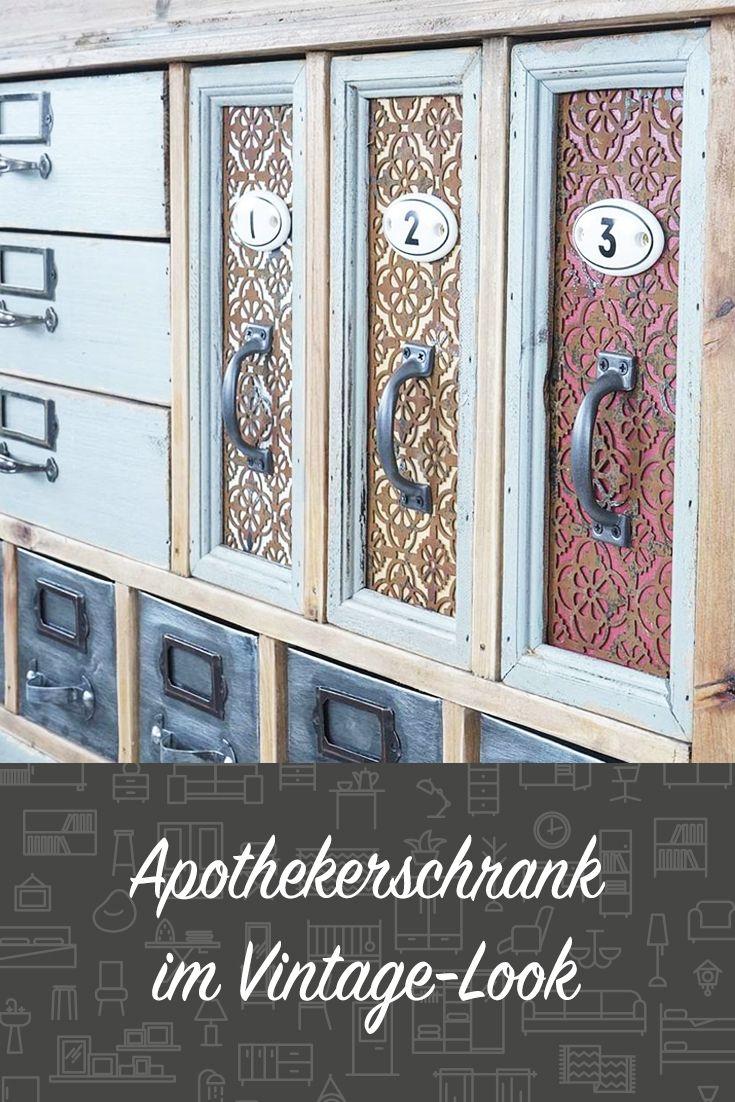 Apothekerschrank im Vintage-Look. #wohnen #einrichten ...