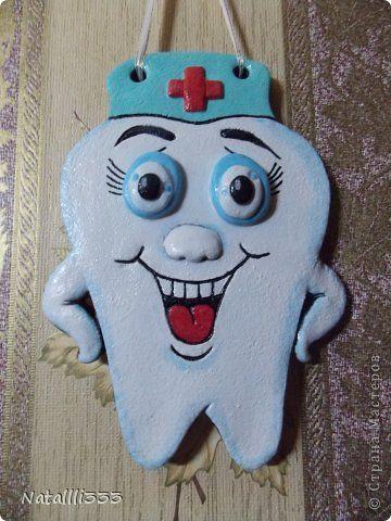 Поделка изделие Лепка Зубик для стоматолога Тесто соленое