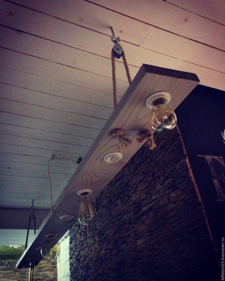 Купить Люстра из лиственницы RETRO. - серый, люстра, эдисон, лампа, ретро, ретро освещение, loft