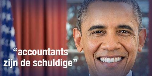 Obama geeft accountants de schuld President Barack Obama geeft accountants er de schuld van dat Amerikaanse multinationals om fiscale redenen naar het buitenland verhuizen. Volgens hem kosten deze 'tax inversions' de Amerikaanse belastingbetalers klauwen met geld. 'It's not fair. It's not right,' aldus Obama.