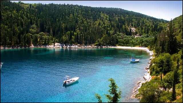 Foki bay, Kefalonia, Greece